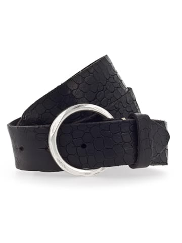 B.belt Gürtel Leder in schwarz