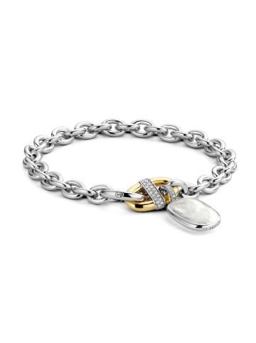 "Ti Sento Milano Armband ""mit Perlmutt"" in silber und gold"