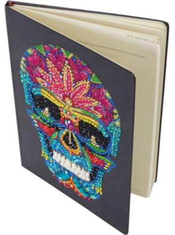 """CRAFT Buddy Notizbuch-Kit """"Skull"""" Aus Kristall-Kunst"""