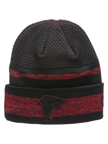 NEW ERA Beanie NFL Atlanta Falcons Sideline Tech Knit in schwarz / rot