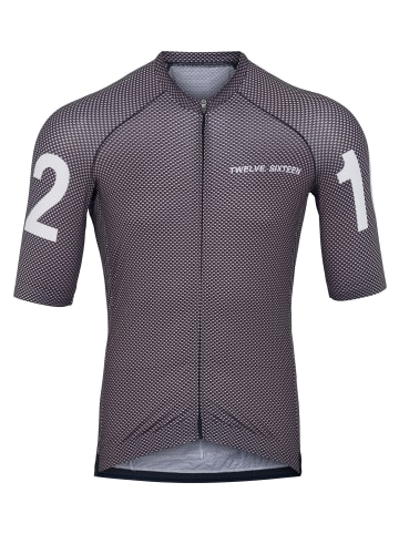Twelvesixteen 12.16 Shirt 0153 Jersey S/S Pro Carbon/White in carbon/white