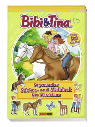 Panini Books Bibi & Tina - Superstarker Sticker- und Malblock für Pferdefans