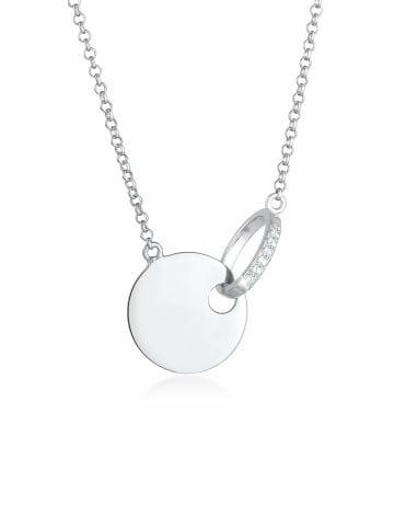 Elli DIAMONDS  Halskette 925 Sterling Silber Geo in Silber