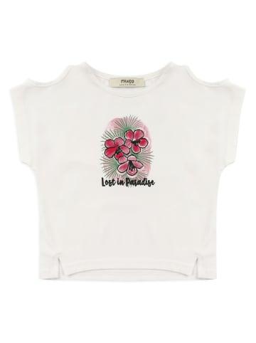 Panco T-Shirt - mit Schulterdetail - für Mädchen in Weiß