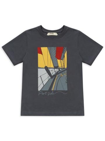 Panco T-Shirt - mit Bootsdruck - für Jungen in Anthrazit