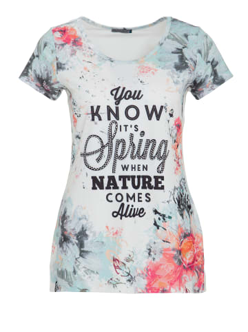 Way of Glory Way of Glory WAY OF GLORY T-Shirt mit Allover Print vorne in weiß
