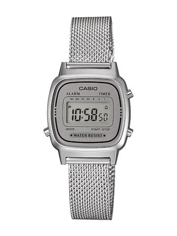 Casio Retro Digital Damenuhr Silber