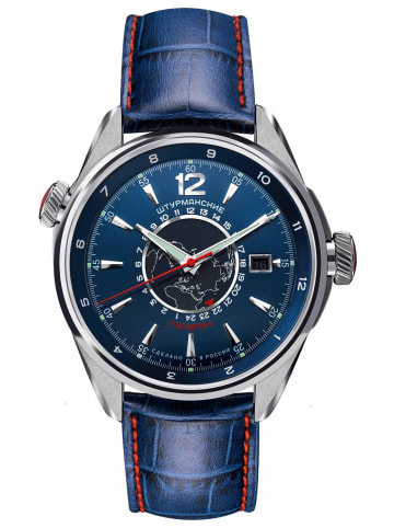 Sturmanskie Gagarin Sports Automatik Herrenuhr Blau / Silber