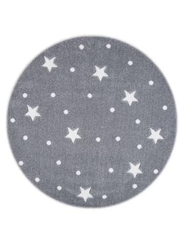 Livone Teppich HEAVEN silbergrau/weiss rund