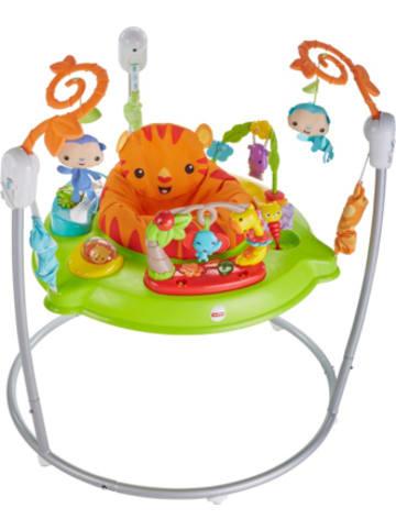 Mattel Fisher-Price Spielspaß Rainforest Jumperoo, Tür-Hopser, Baby-Hopser
