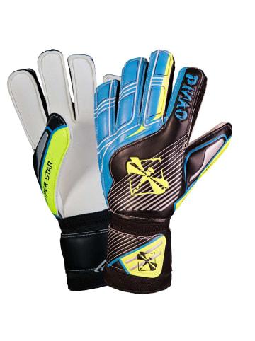 """PiNAO Sports Torwart-Handschuhe """"Super Star"""" in schwarz-blau-gelb"""