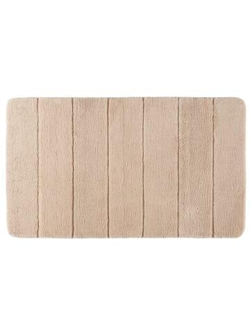 Wenko Badteppich Steps Sand, 70 x 120 cm, Mikrofaser in Beige