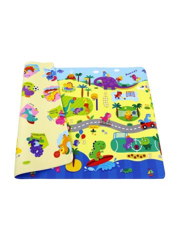 """BABY CARE Spielmatte """"Dino Sports"""" in Bunt - (L) 185 x (B) 125 cm x (H) 12 mm"""
