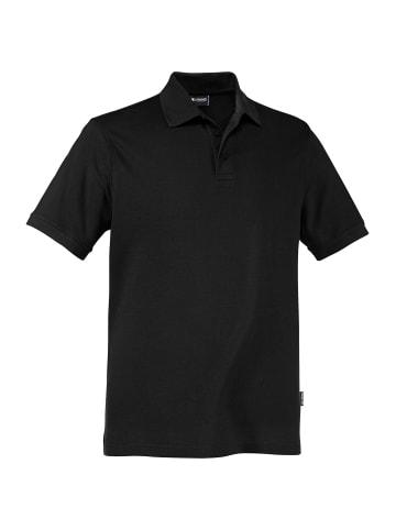 Expand Herren Arbeits Poloshirt Übergröße in schwarz