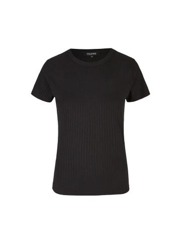 Course Elements Ripp-Shirt in schwarz