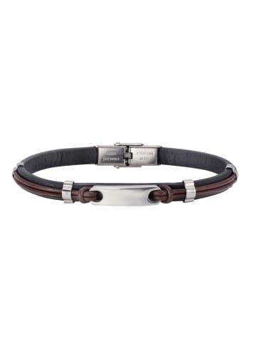 NOX Armbänder Edelstahl in schwarz/braun