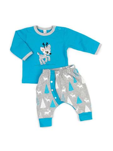 Koala Baby 2tlg Set Shirt + Hose Rentier - by Koala Baby in blau und grau