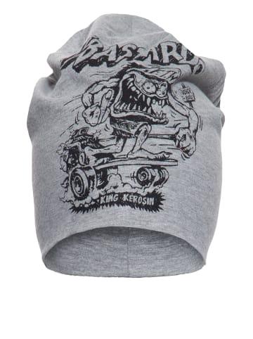 King Kerosin Stoffmütze mit coolem Monster-Print in grau