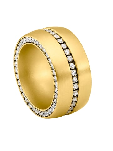 Steel_Art Fingerring Ductus 60 Gold in Vergoldet