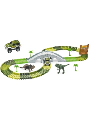 AMEWI Magic Traxx Dino-Park, mit Brücke, MiniSet 108-teilig