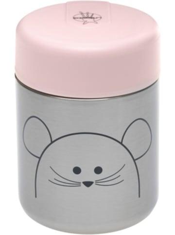 Lässig Aufbewahrungsbehälter Edelstahl, Mäuschen, rosa