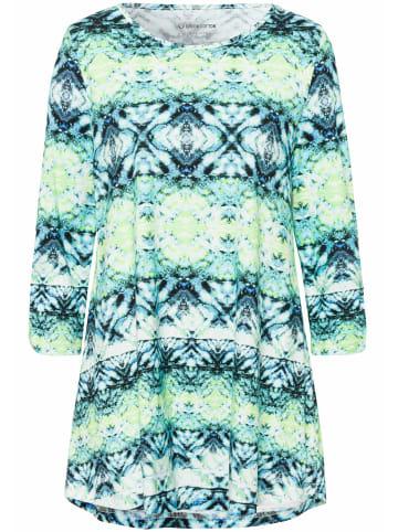 Green Cotton 3/4-Arm-Shirt Longshirt in blau/limone/multicolor