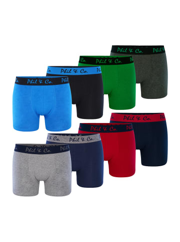 Phil & Co. Berlin  Boxershorts 8-Pack Jersey in multicolor #1