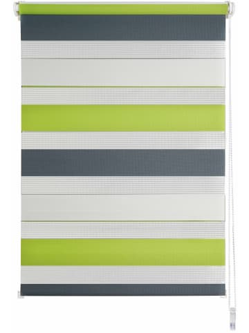 Ondeco® Doppelrollo Klemmfix Triple in Green-Grau