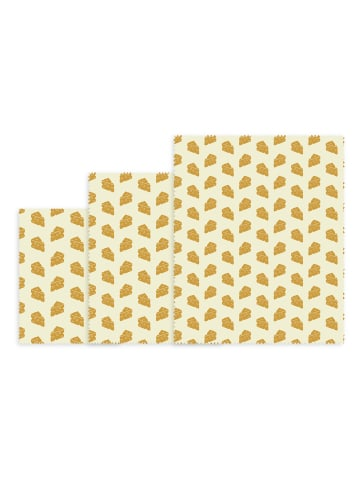 NUTS 3tlg Set Bienenwachstuch Käse