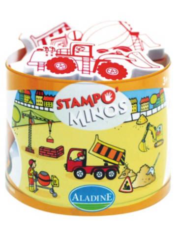 Aladine STAMPO'MINOS Midi-Stempelset Baustelle, 11-tlg.