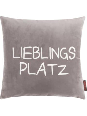 "MAGMA Kissenhülle ""Lieblingsplatz"" Samt 40x40cm"