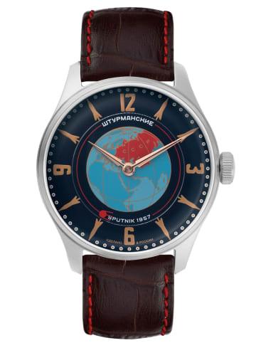 Sturmanskie Heritage Sputnik Herrenuhr Handaufzug Blau / Braun / Silber