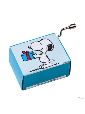 Butlers Spieluhr Snoopy mit Geschenk SING A SONG in bunt