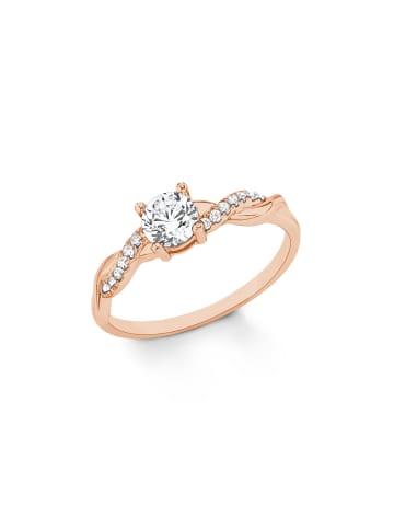 S. Oliver Jewel Ring Silber 925, rosévergoldet in Weiß