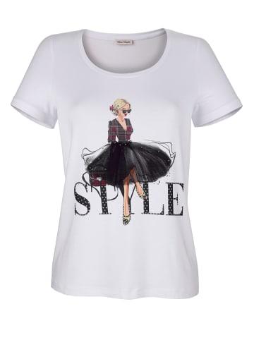 Alba Moda Shirt in Weiß,Schwarz,Rot