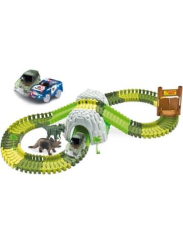 AMEWI Magic Traxx Dino-Park Mega Set mit Tunnel 374-tlg.