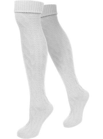 Normani Trachten-Kniestrümpfe in Weiß
