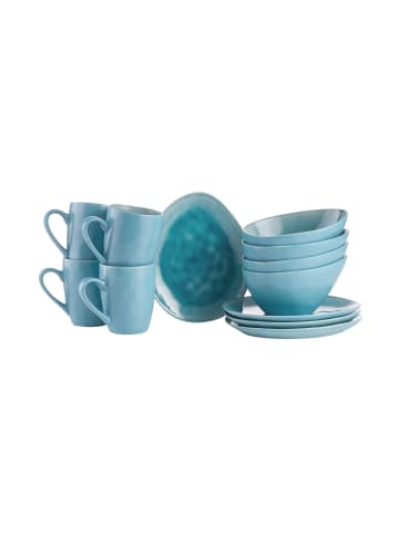 Butlers Geschirr-Set zum Frühstück 12-tlg. DE LA ROYA in Blau