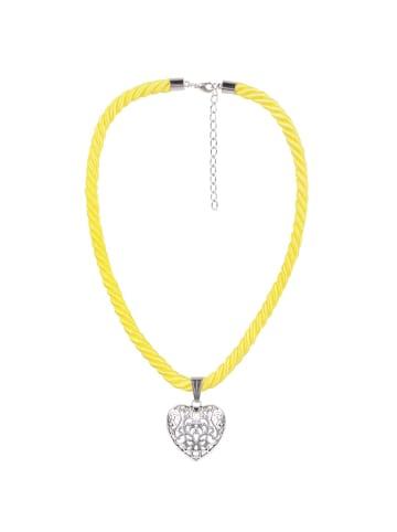 Schlick Accessoires Trachtenhalskette in Gelb