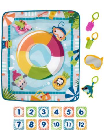Mattel Fisher-Price Plitsch-Platsch Entdecker Baby-Spieldecke, Krabbeldecke