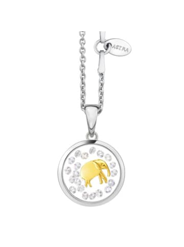Astra Kette mit Anhänger LUCKY ELEPHANT in yellowgold