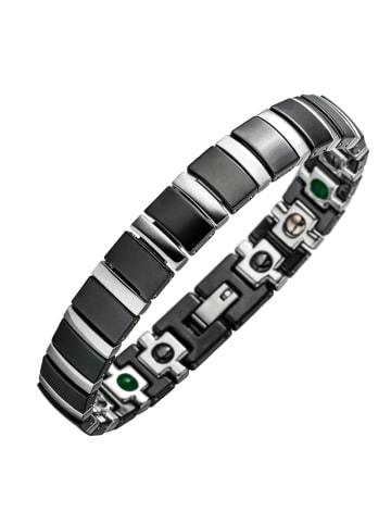 "Lunavit Armband ""Titan Jade"" in Schwarz / Silber"