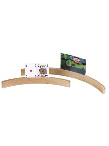 Longfield Kartenhalter Holz 35 cm in Multicolor