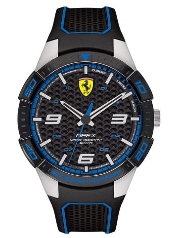 Scuderia Ferrari Analog Uhr 'Apex' in Schwarz/Schwarz