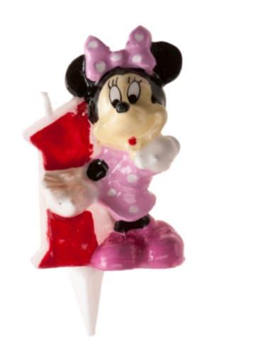 DeKora Kerze Minnie 3D - Zahl 1