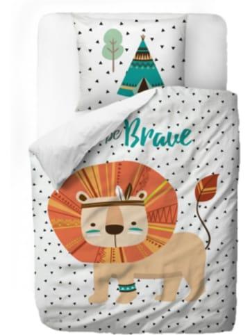 Mr Little Fox Kinderbettwäsche aus Satin, Löwe, 135 x 200 + 80 x 80 cm
