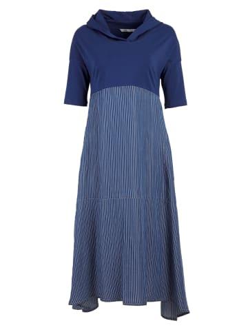 HELMIDGE A-Linien-Kleid Maxikleid in schmalband blau