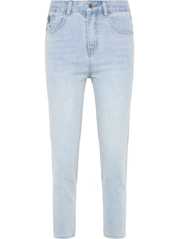 MyMo NOW Mom Jeans in Blau