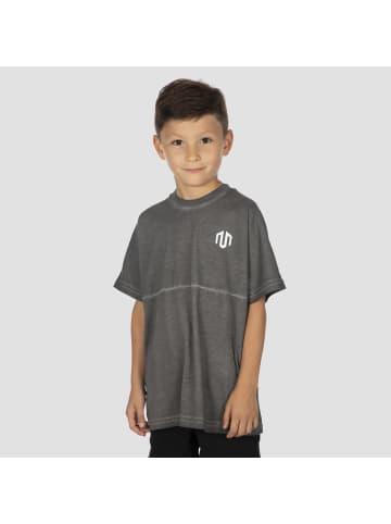 MOROTAI T-Shirt Boys Half Seam T-Shirt in Dunkel Grau