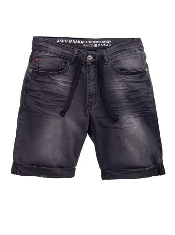 Akito Tanaka Akito Tanaka AKITO TANAKA Herren Jogg Shorts im Denim-Look in schwarz